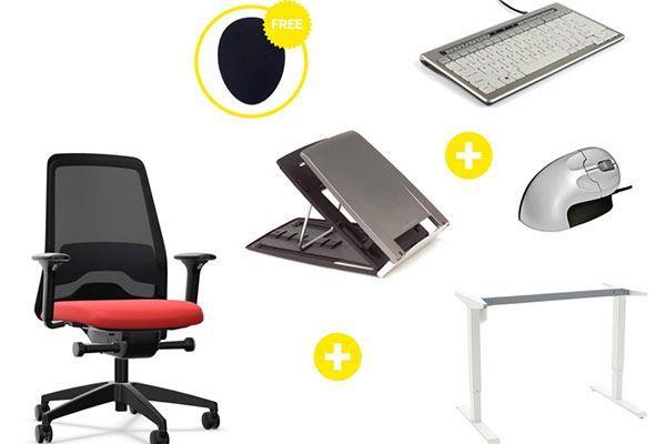 Kits de artículos ergonómicos para oficinas
